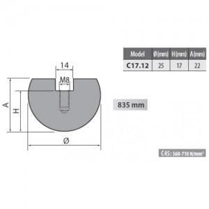 c rolleri radius top tool mm radius
